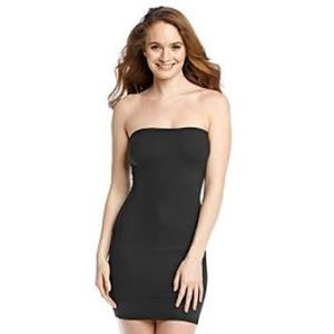 Spandex dress slip size large in black